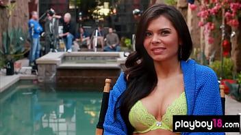 Bombastic brazilian beauty Alana Campos reveals her huge tits