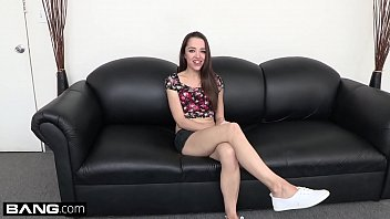 Hairy skinny amateur - Nikki next gets fishhooked and fucked on the bang couch