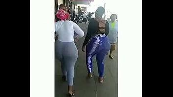 Huge ass sister walking down my hood