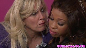 Busty lesbian mature pussylicking ebony milf