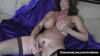 Sexual toys that draw blood Hot blooded cougar deauxma dildo fucks her pussy squirts