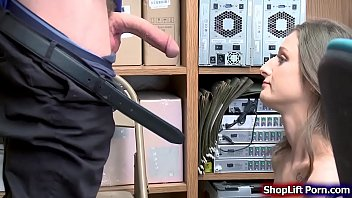 Teen shoplifter pussy rammed by officer