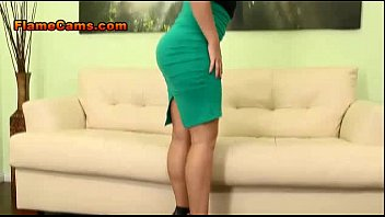 Big Tit Blonde In A Short Skirt