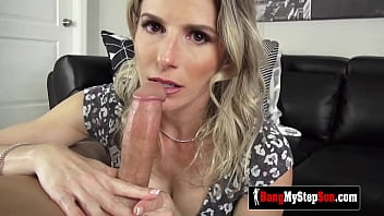 TIPSY stepmom gets fucked by her stepson on the COUCH