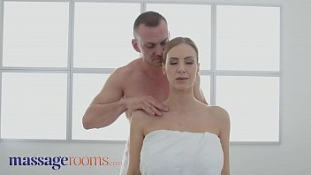 Massage Rooms Big tits blonde MILF Nathaly Cherie served a creampie