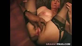 Anal fuck old - Interracial granny anal
