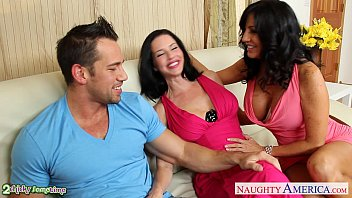 Brunettes Tara Holiday and Veronica Avluv sharing cock