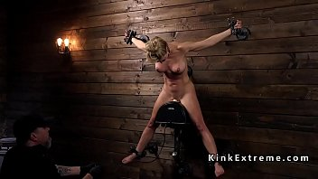 Bondage shocking - Wet milf in bondage electro shocked