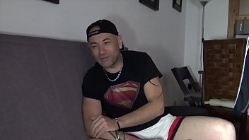 this is the sexy daddy MAX DURAN fucked bareback in the kitchen by another daddy JUAN JO in the kitchen, Gay Porn shoot CRUNCHBOY