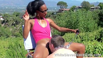 A white slave under black feet