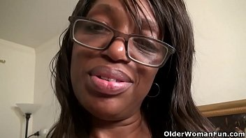 Ebony milf Lexus gives her dripping cunt the attention it needs