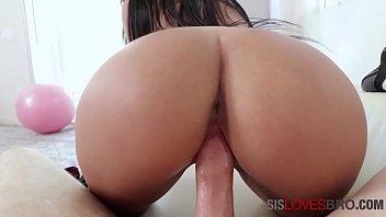 Busty Latina Brunette Sister Fucks Brother- Alina Belle