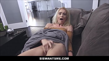 Cute Horny Blonde Teen Step Sister Anastasia Knight Wants Her Step Brother To Watch Her Masturbate To Orgasm POV