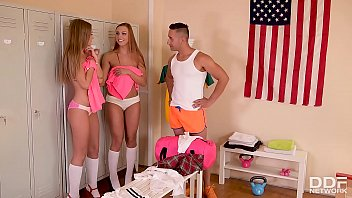 Euro Sluts Ornella Morgan & Tiffany Tatum BJ's in the Locker Room