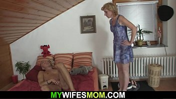 Small tits blonde mother-in-law