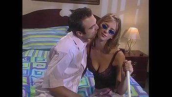 Guys living next door watch blind blonde gal getting penetrated by her lover 13 min