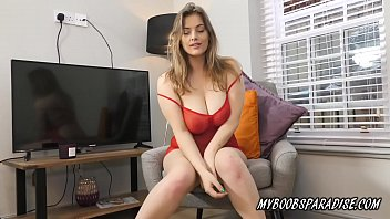 New Busty model on MyBoobsParadise Lottie Rose oiled her big natural boobs