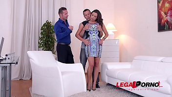 Busty glamour goddess Sensual Jane fucked by husband & Doctor at the office GP697