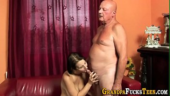 Teen soaked in old spunk
