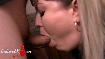 Blonde Suck Dick Lover and Jerk Off after Work - Cum in Mouth صورة