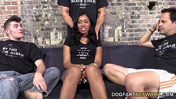 Thulin de cock Yasmine de leon quenches her hunger for white cock