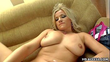 Horny blonde slut Luciana goes solo!