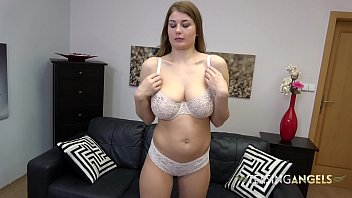 Busty Lucy wants you to stare at her tits while she masturbates