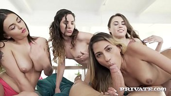 Private.com Gorgeous Girls Share a Stallion porno izle