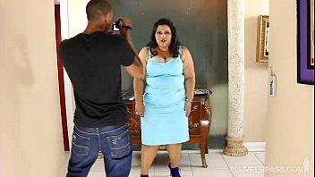 Large Latina Lovely Karla Lane Fucks Camera Assistant on Set