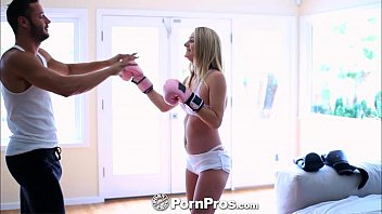 PornPros Busty blonde spars with a big cock