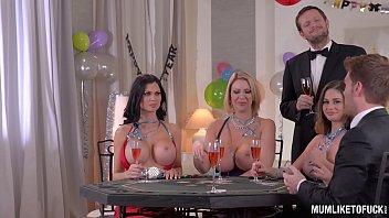 Milfs Cathy Heaven & Leigh Darby & Jasmine Jae Cum During New Year's Orgy thumbnail
