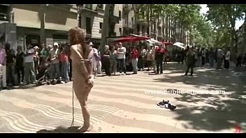 Fucked a dog Public plaza incredible disgrace sex