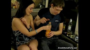 Absolutely drunken gal banged by her boyfriend