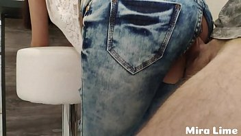Ripped her jeans and forced to fuck