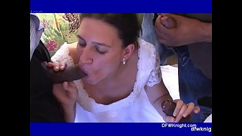 Russian wedding porn - My wifes dfwknight wedding gangbang breeding