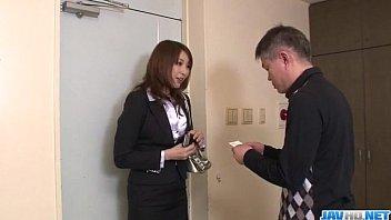 Dazzling blowjob with big tits Araki Hitomi