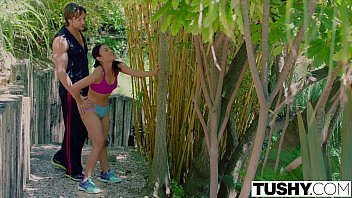 TUSHY Personal trainer loves anal with asian wife
