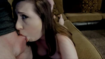 The girl deeply swallows and jumps on a member