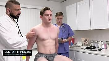 Fit Boy Goes For Annual Check-Up But The Doctor And His Medical Student Give Him The Full Package