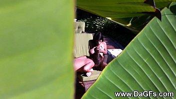 Spying on my busty lesbian neighboors