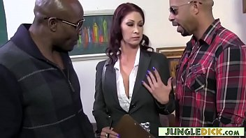 Horny MILF Realtor Hits On Two Black Studs (Tiffany Mynx)
