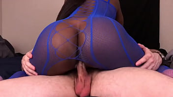 Black Girl Rides White Guys Dick And Gets Creampied