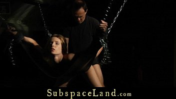 Tied-up and dominated slave angel has to submit