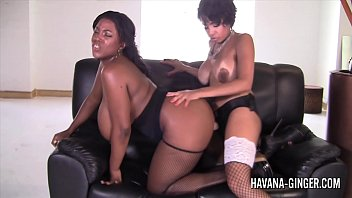 Havana ginger stockings anal - Havana ginger and maserati fuck with a strapon dildo