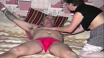 Foul mouth council estate mature housewife threesome