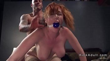 Streaming Video Gagged huge tits redhead anal fucked - XLXX.video