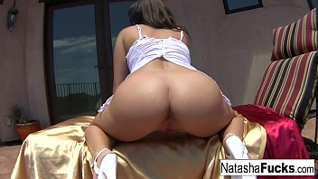 Natasha Nice has fun with her anal toy