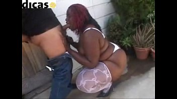 bbw ebony in white stockings gets fuck by hispanic