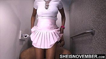 Taboo Siblings! Its About Time My Step Sister Finally Give Me Some Pussy, Pretty Low Self Esteem Ebony Msnovember Big Badonaka Donk Booty Riding Her Big DIck Step Brother In Public Bathroom Stall Taboo Fauxcest On Sheisnovember