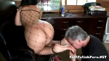 Latin babe giving her best footjob